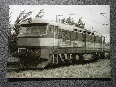 Lokomotiva 751.135, České Budějovice 9.1992