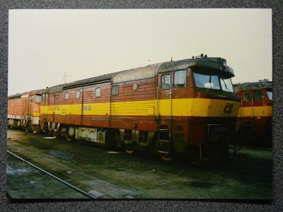 Lokomotiva 751.209, České Budějovice 1997