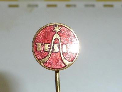 TESLA  rádio  .. REKLAMA  .. Starý  smaltovaný  znak  odznak