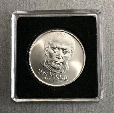 Velmi vzácná stříbrná mince 50 Kčs 1977 - Ján Kollár,Perfektní stav!