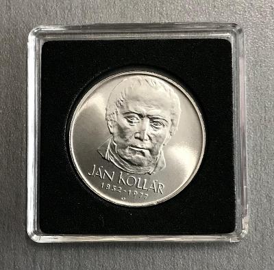 🌶Velmi vzácná stříbrná mince 50 K�s 1977 - Ján Kollár,Perfektní stav!