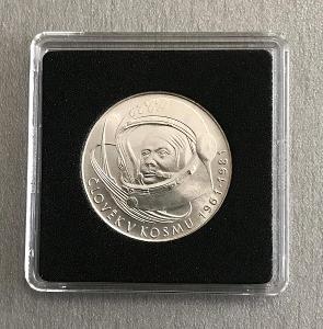 Stříbrná mince100 Kčs 20.výročí prvního letu do vesmíru 1981,Perfektní
