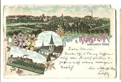 Klášter Hradiště nad Jizerou, Mladá Boleslav, litograf