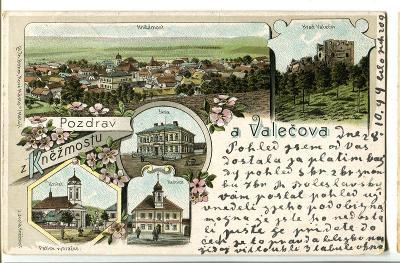 Kněžmost a Valečov, Mladá Boleslav, litografie