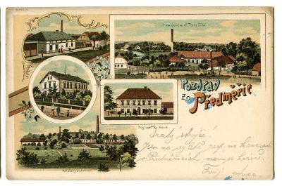 Předměřice nad Jizerou, Mladá Boleslav, litografie