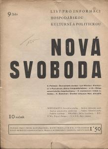 Nová svoboda, ročník 10, číslo 9/1933. List pro inform