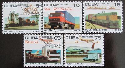 Kuba 2003 Přeprava zboží Mi# 4516-20 Kat 4.50€ 0603