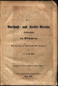 Die Vorschuss - und Kredit - Vereine (Volksbanken) in Böhme