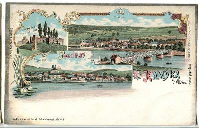 Kamýk nad Vltavou, Příbram, litografie