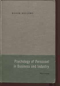 Psychology of Personnel in Business and Industry (psycholog