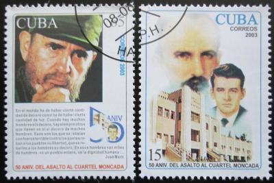 Kuba 2003 Útok na kasárny Moncada Mi# 4530-31 0603