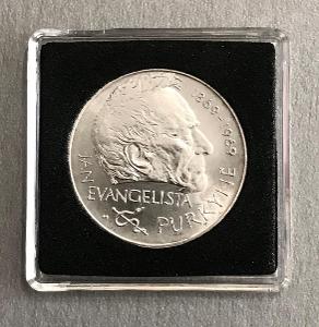 Stříbrná mince 25Koruna 1969 -Jan Evangelista Purkyně,Perfektní stav!