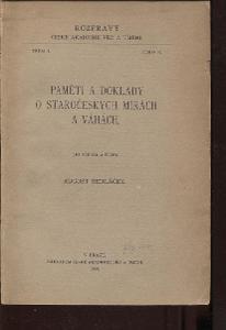 Paměti a doklady o staročeských mírách a váhách (192