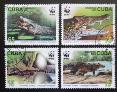 Kuba 2003 Krokodýli, WWF Mi# 4553-56 0604