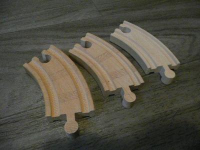 vláčkodráha - koleje kulaté - zatáčka krátká 3ks