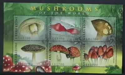 Sierra Leone 2009 Mi.5218-2 8€ Houby světa a flora lesů