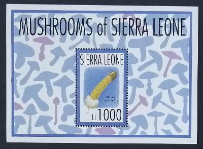 Sierra Leone 1993 Bl.220 8€ Houby světa, Phallus rubicundus