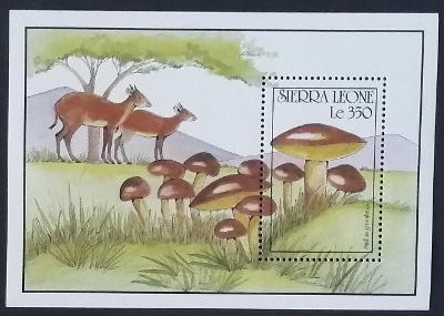 Sierra Leone 1990 Bl.149 7,5€ Houby Afriky, Suillus granulatus