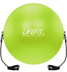 Lifefit 75cm zelený gymnastický míč s expandérem