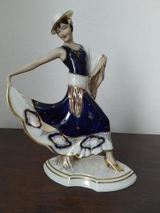 Royal dux vzácna porcelánová soška španielska tanečnica