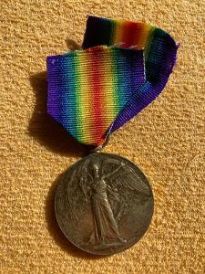 Mezispojenecká medaile vítězství - britská verze, wwi, vzácné
