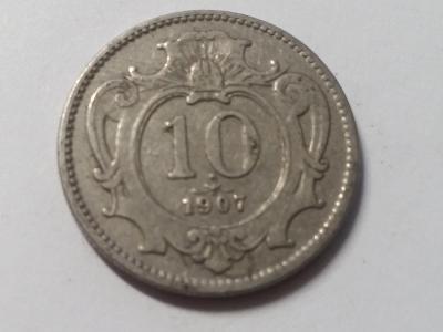 Rakousko-Uhersko FJI - 10 hal - 1907