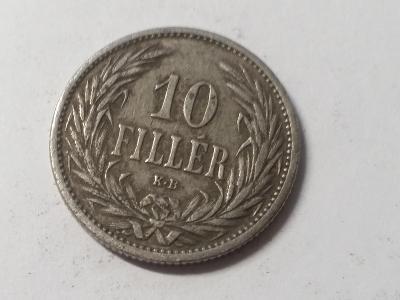 Rakousko-Uhersko FJI - 10 fillér - 1909 KB
