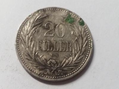 Rakousko-Uhersko FJI - 20 fillér - 1893 KB