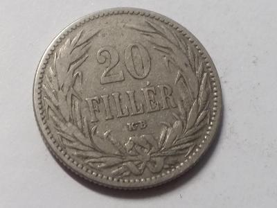 Rakousko-Uhersko FJI - 20 fillér - 1894 KB