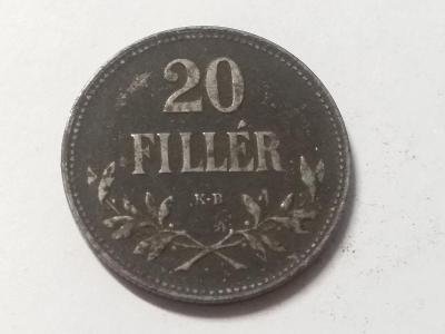 Rakousko-Uhersko FJI - 20 fillér - 1916 KB