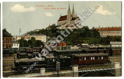 Brno, , nádraží lokomotiva vlak železnice