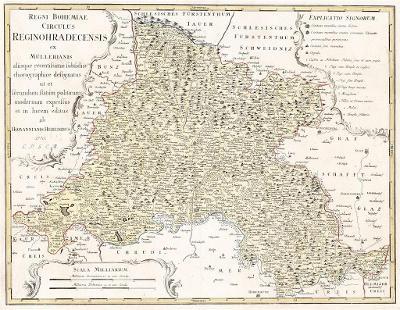 Homann dědic. : Královéhradecký , mědiryt, 1770