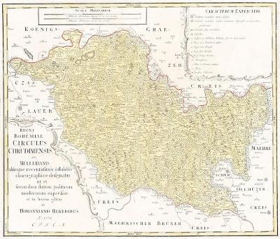 Homann dědicové : Chrudimský kraj , mědiryt, 1772