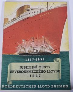 Brožura Norddeutscher Llloyd Bremen 1857-1937, nabídka plaveb