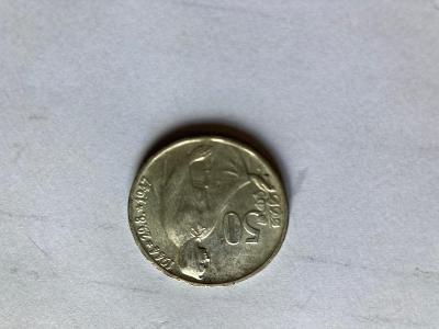 Stříbrná pamětní mince 50 Kčs - 1947 - 3. výročí SNP