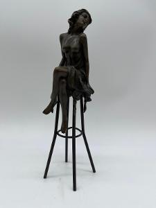 TOP-Luxusní bronzová socha-signovaná