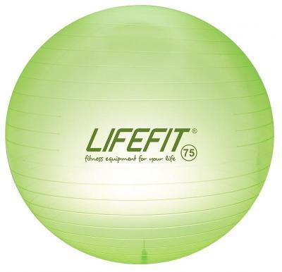 Lifefit míč TRANSPARENT 75 cm, sv. zelený