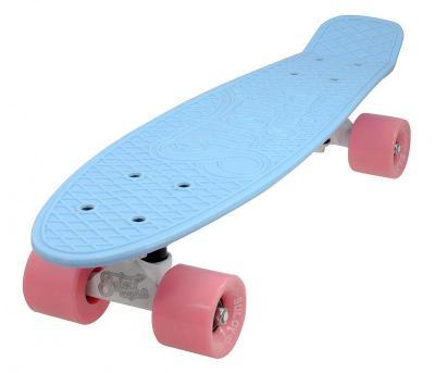 """Sulov 22"""" PASTEL modro-ružový penny board"""