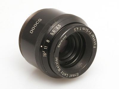 Zvětšovací objektiv Ernst Leitz Wetzlar FOCOTAR 50mm/4,5 (závit M39)