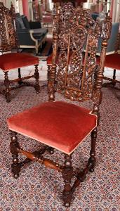 Starožitné židle s vinnou révou 6KS