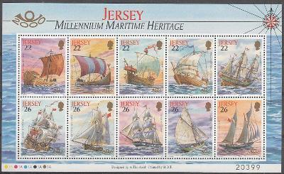JERSEY Plachetnice, lodě ** Mi.Kl.928-37 (Mi€ 10)