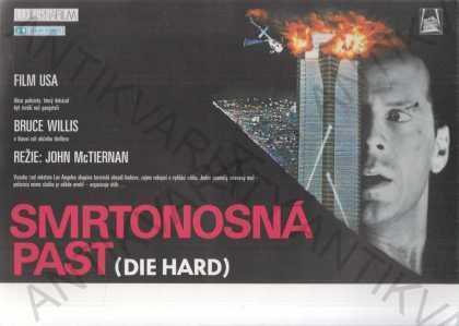 Smrtonosná past filmový plakát A4 Bruce Willis