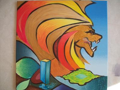 IPB,  akryl na plátně,  50 x 50 cm
