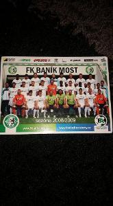 Foto s podpisy FK Baník Most - sezona 2008/2009 - fotbal