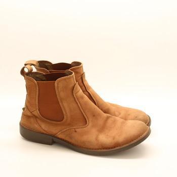Pánské kožené kotníkové boty