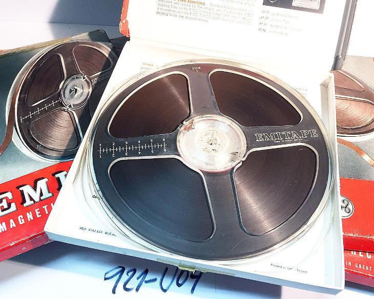 7x 18cm cívky EMITAPE 77/12H pro páskové magnetofony (921-U04) - TV, audio, video