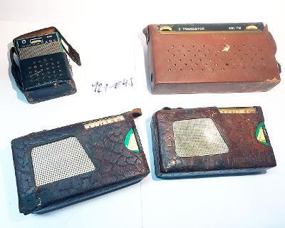 4x tranzistorové přijímače TESLA 1x Dana 2x Doris 1x Monika (921-E48)