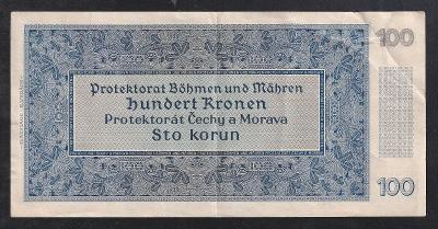 100 KORUN 1940 VZÁCNĚJŠÍ SÉRIE B - NEPERFOROVANÁ - KRÁSNÁ