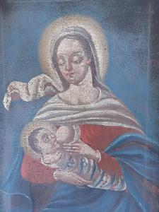 Starozitny obraz Madony