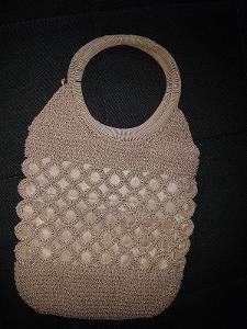 Háčkovaná taška do ruky 33x22x6 cm